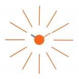 Ρολόι Τοίχου Urchin (Πορτοκαλί/Γκρι) - KLOX
