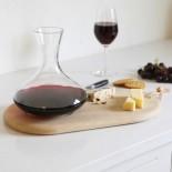 Σετ Καράφα Κρασιού 1.4L με Ξύλινη Βάση Σερβιρίσματος LSA