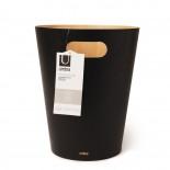 Κάδος Απορριμάτων Woodrow Μαύρο / Φυσικό Ξύλο Umbra