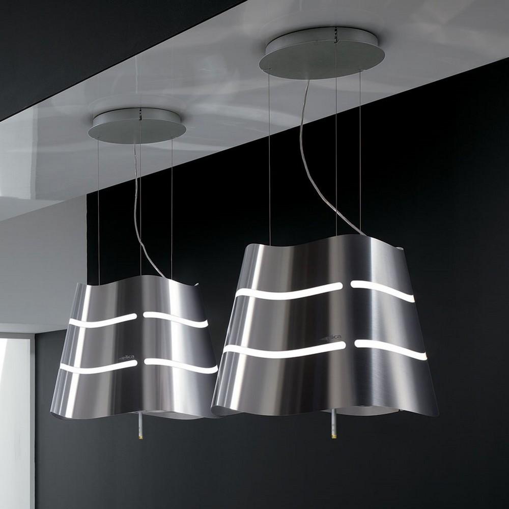 wave hanging kitchen hood elica design is this. Black Bedroom Furniture Sets. Home Design Ideas