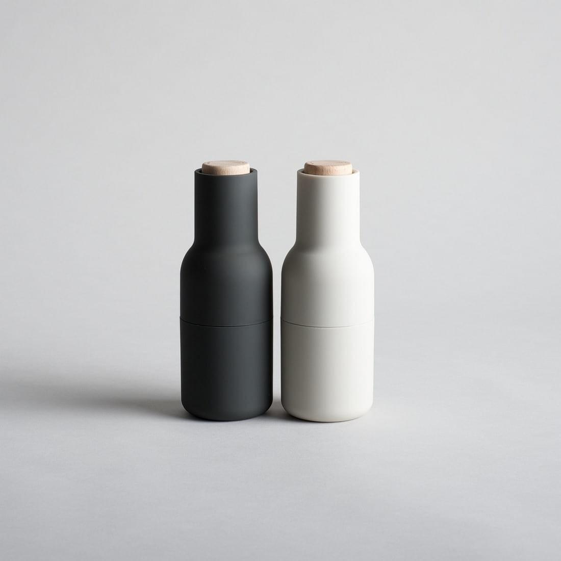 Bottle Grinder Salt Pepper Set Ash Carbon Design Is This