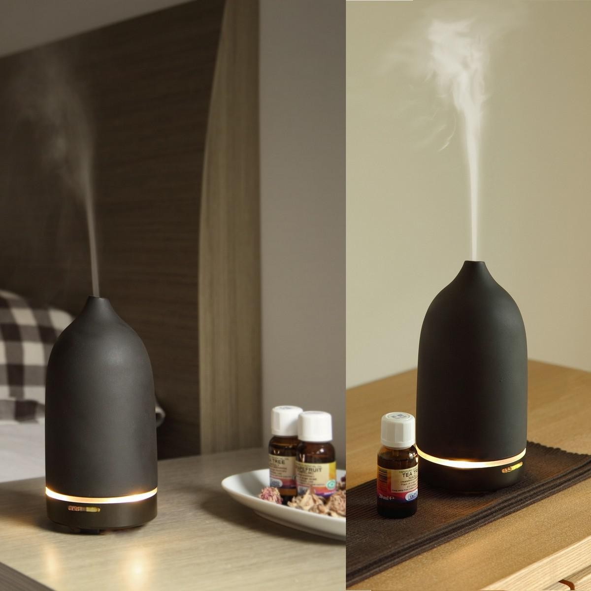 Casa Ultrasonic Essential Oil Diffuser Toast Living Black