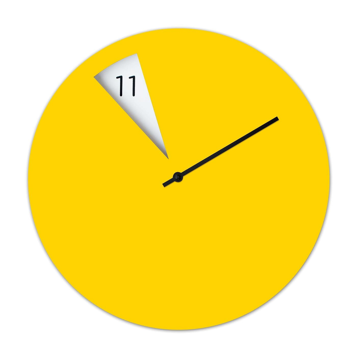 Freakish Wall Clock Yellow Sabrina Fossi Design Design