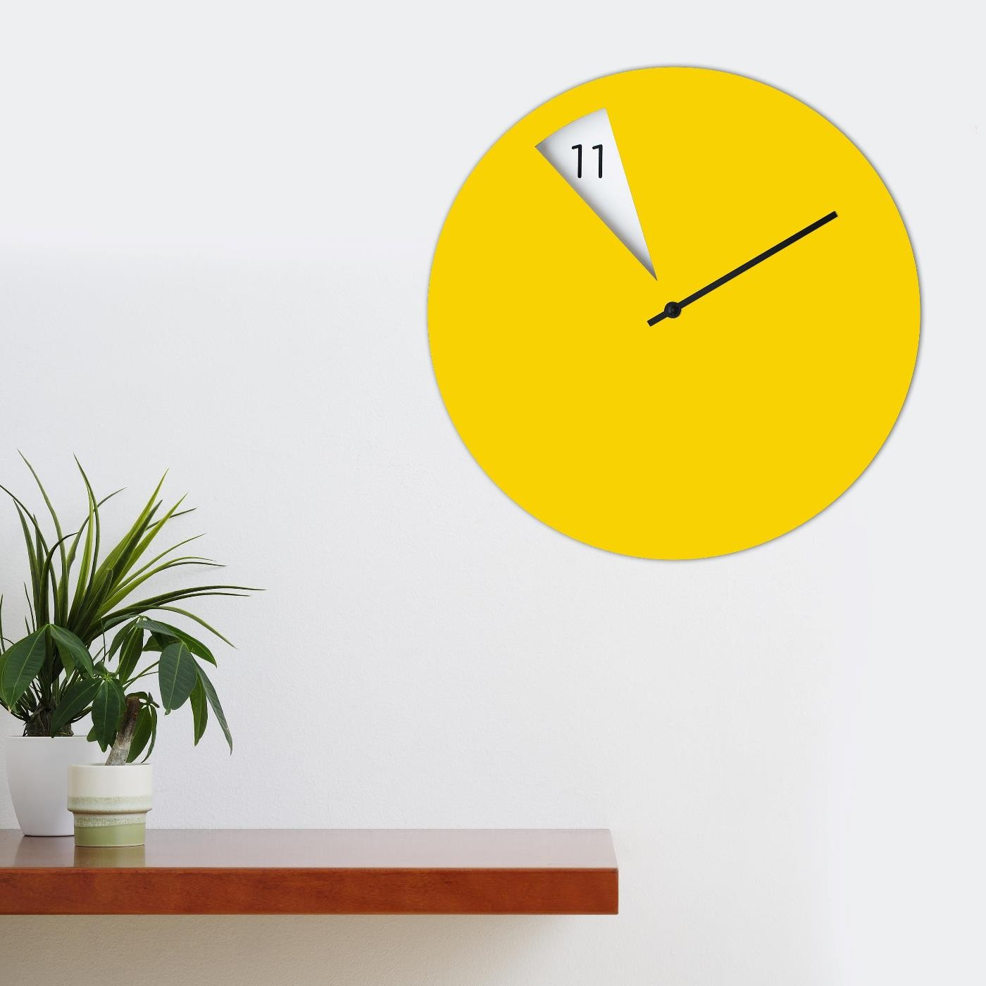 Freakish Wall Clock (Yellow) Sabrina Fossi Design | Design Is This