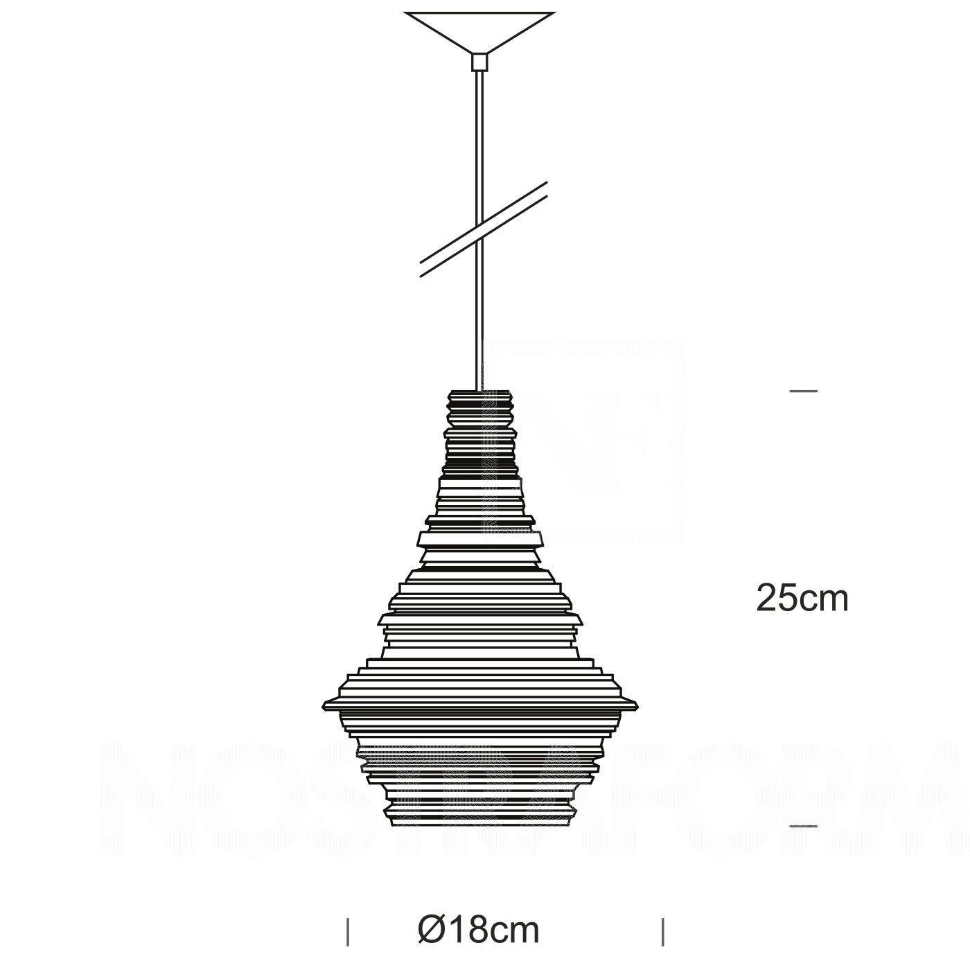 stupa small pendant lamp