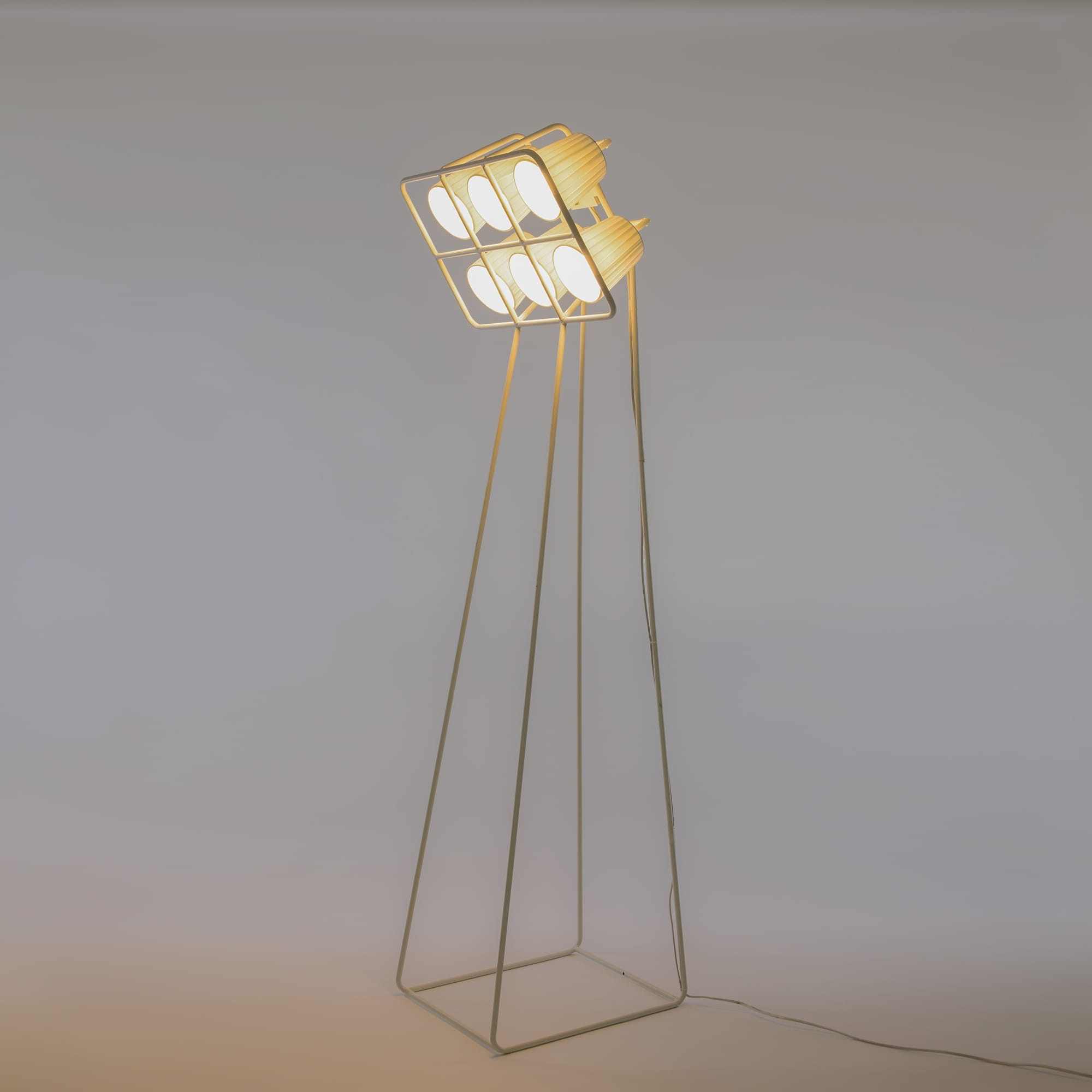 Multilamp football floor lamp white seletti design is this for Multi spotlight floor lamp