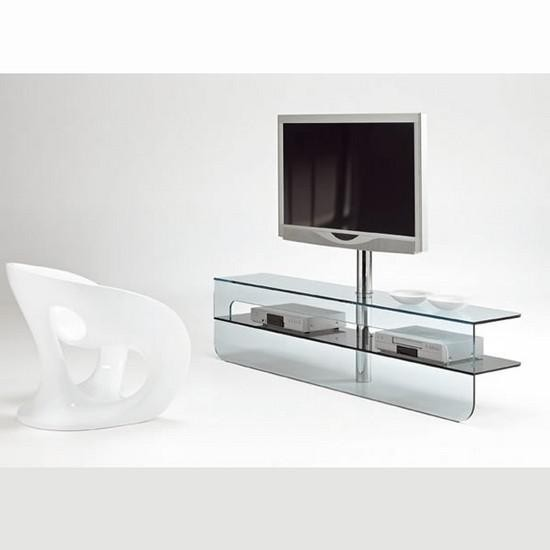 glass tv unit plasmatik by karim rashid design is this