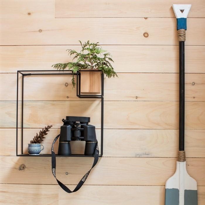 cubist large wall shelf black umbra