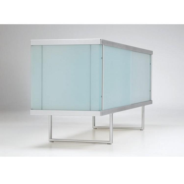 broadway low glass sideboard  u0026 display unit tonelli