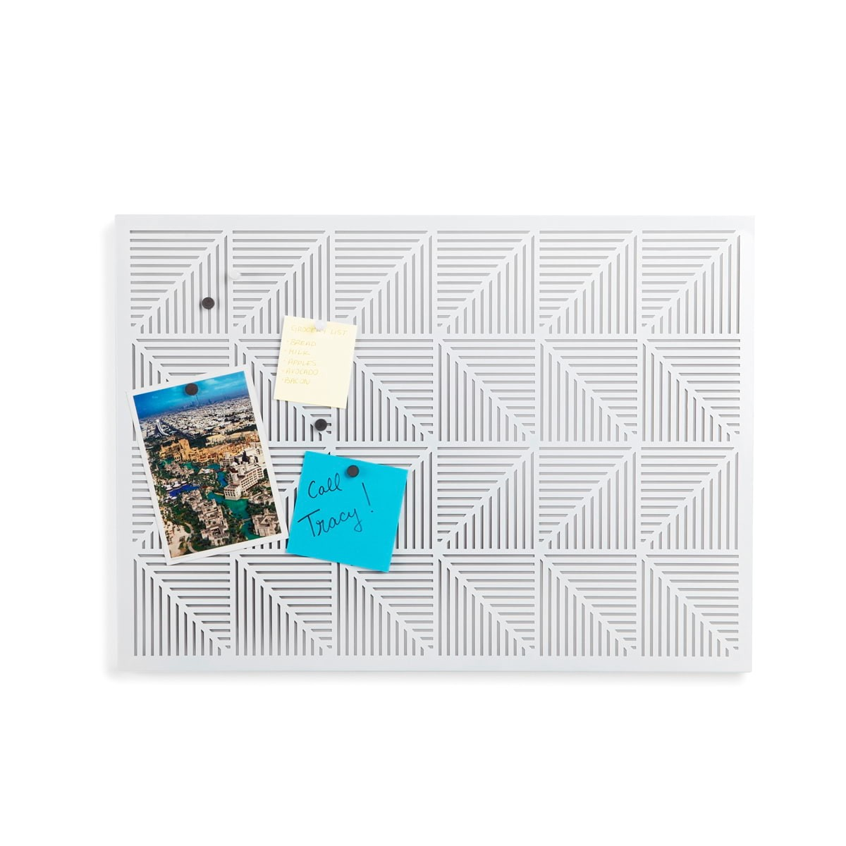 Umbra Trigon Bulletin Board (White) | Design Is This