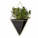 Trigg Large Hanging Wall Planter & Vase (Black / Brass) - Umbra