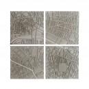 Paris Fragments Concrete Coasters (set of 4) - A Future Perfect