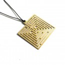 Knossos Labyrinth Square Pendant - A Future Perfect