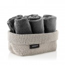 TELA Crochet Storage Basket L (Sand) - Blomus
