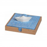 Boat Napkin Holder (Wood / Porcelain) - Raeder