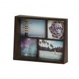 Edge Multi Desk Photo Frame (Aged Walnut) - Umbra