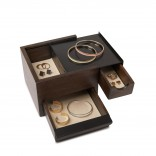 Mini Stowit Jewelry Storage Box (Black / Walnut) - Umbra