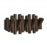 Picket Rail 5 Hooks (Aged Walnut) - Umbra