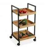 Bamboo Wheeled Shelving Unit - Versa