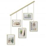 Εxhibit Multi Wall Photo Display (Mat Brass) - Umbra