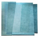 Aqua Teal Sea Rug - Sonya Winner Studio