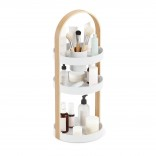 Bellwood Cosmetic Organizer (White / Natural) - Umbra