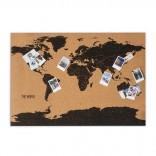 Cork Board World Map (58 x 82 cm.)
