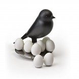 Egg Sparrow Magnetic Set (Black) - Qualy
