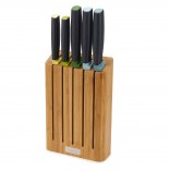 Elevate™ 6-piece Knife Set with Slimline Bamboo Block - Joseph Joseph