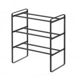 Frame 3-Tiered Expandable Shoe Rack (Black) - Yamazaki