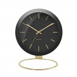 Globe Table Clock (Black) - Karlsson