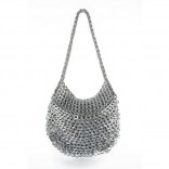 Greta Handmade Recycled Shoulder Bag (Silver) - Escama Studio
