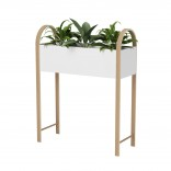 Bellwood Storage Planter (White / Natural) - Umbra