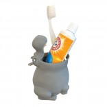 Hippo Toothbrush Holder (Grey)
