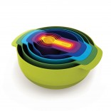 Nest™ 9 Plus Mixing Bowls & Measuring Cups Set (Multicolored) - Joseph Joseph