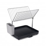 Y-Rack™ 2-Tier Self Draining Dish Rack (Grey) - Joseph Joseph