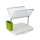 Y-Rack™ 2-Tier Self Draining Dish Rack (White / Green) - Joseph Joseph