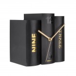 Table Clock Book (Black) - Karlsson
