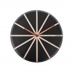 Lines Wall Clock (Black / Natural) - Karlsson