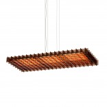 Grid Triple LED Pendant Light (Acrylic Bronze) - Pablo Designs