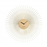 Peony Wall Clock (Steel Gold) - Karlsson