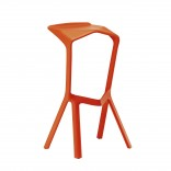 MIURA Bar Stool (Pure Orange) - Plank