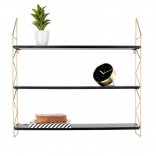 Zig Zag Wall Rack (Gold) - Present Time