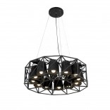 Multilamp Ring Hanging Lamp (Black) - Seletti