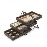 Terrace Jewelry Tray (Black / Walnut) - Umbra
