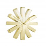 Ribbon Wall Clock (Brass) - Umbra