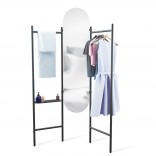 Vala Floor Mirror & Valet (Black) - Umbra