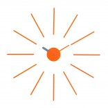 Urchin Wall Clock (Orange/Grey) - KLOX