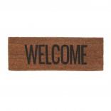 Welcome Door Mat (Black / Brown) - Present Time