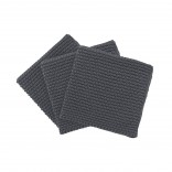 WIPE PERLA Set of 3 Knitted Dish Clothes (Magnet) - Blomus